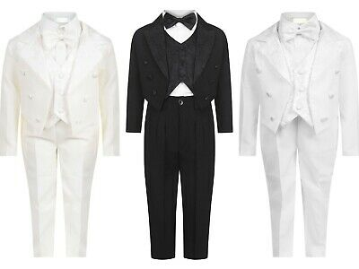 Brand New Boys Formal 5Piece Suit Boy Prom Wedding Suit Ages 0-3 Moths To 6 Yrs