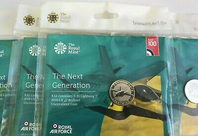 RAF Lightning F-35 2 Pound Coin 2018 Centenary Royal Mint Packaged