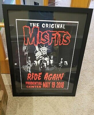 Misfits Signed Lithograph Poster New York 2019 Glenn Danzig Autographed