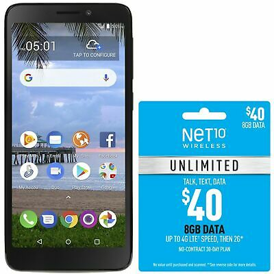 Net10 TCL LX 4G LTE Prepaid Cell Phone with $40 Airtime Plan Included
