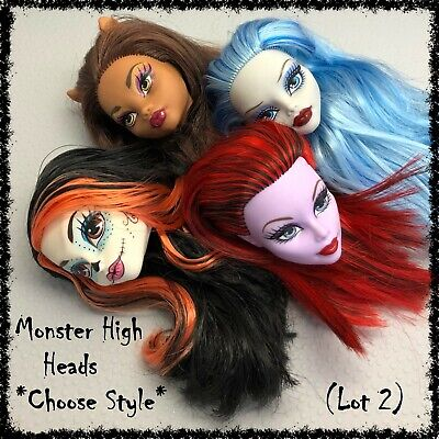 MONSTER HIGH Doll Head, Spares, Restyle, OOAK ~SELECT STYLE~ 1 incl. (Lot 2)
