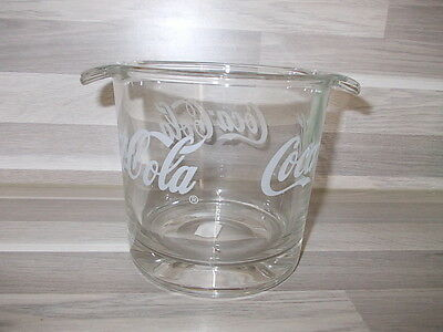 Vintage collectable Coca-Cola glass ice bucket