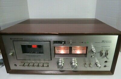 Vintage Kenwood Stereo 3 Head Cassette Deck Player Recorder KX-1030 Powers On