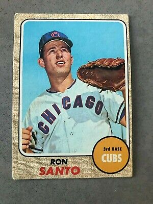 1968 Topps Set Break #235 Ron Santo Chicago Cubs Baseball Card