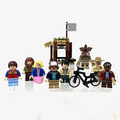 Lego Stranger Things 75810 Minifigure Set of 8, Castle Byers build & Black Bike