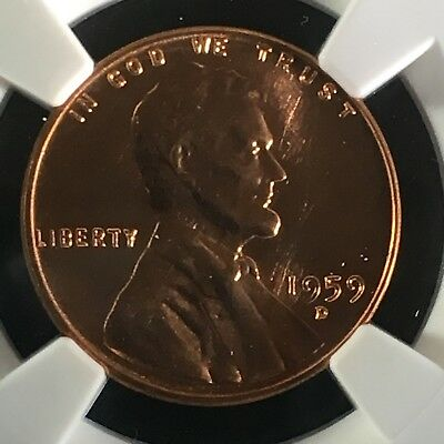 1959-D 1C RD Lincoln Memorial One Cent NGC MS67+RD       2713478-002c