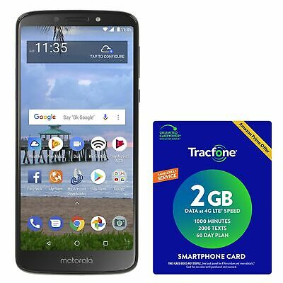 Tracfone Motorola E5 4G LTE Prepaid Cell Phone with $40 Airtime Plan Included