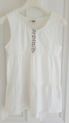 Mini Boden - Girl's White Tiered Smock Top - Age 9/10 – Worn Once