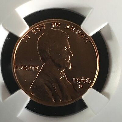 1960-D 1C RD Small Date Lincoln Memorial One Cent NGC MS67+RD       4230261-002c