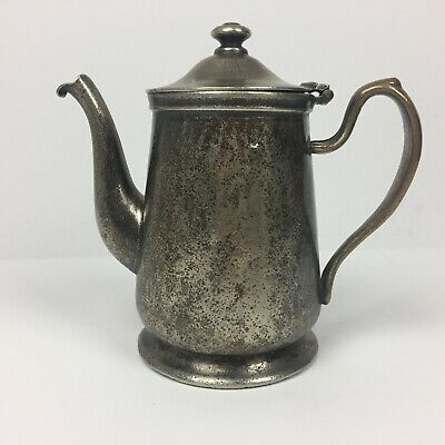 Hotel Taft New York Water Pitcher D W Haber And Son Nickle Silver Swing Lid