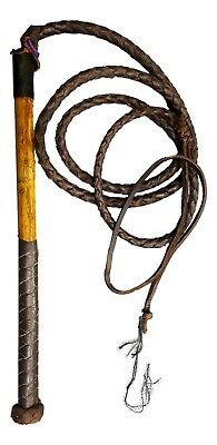 Brown - Yard whip Stockwhip Genuine Leather Stock Whip