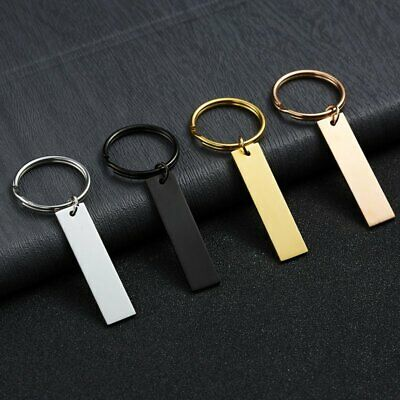 Personalized DIY Stainless Steel Drive Safe Keychain Keyring Letter Engraved Hot