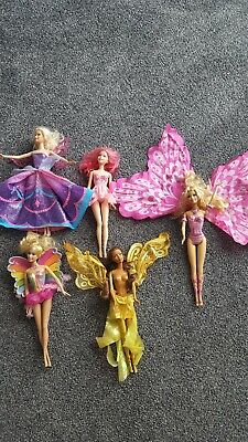 Barbie Fairytopia Mermaidia Fairy Bundle 5 Dolls . Catania Elina Kindlee