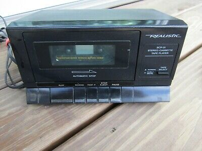 Realistic SCP-31 Vintage Stereo Cassette Tape player TESTED