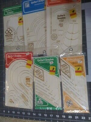 LOT OF 9 1979 RARE SEALED Quilter's Patterns Templates by Yours Truly
