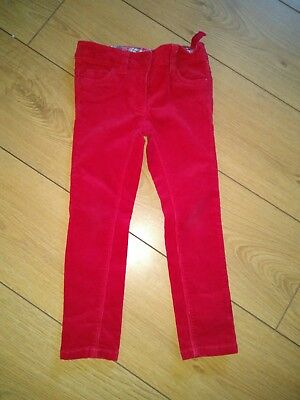 NEXT Trousers Red Cords Jeans Xmas Christmas Age 4 Years Adjustable Waist