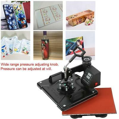 38*29CM 6 in 1 Dual Display Heat Press Machine Digital Transfer T-Shirt Mug Hat