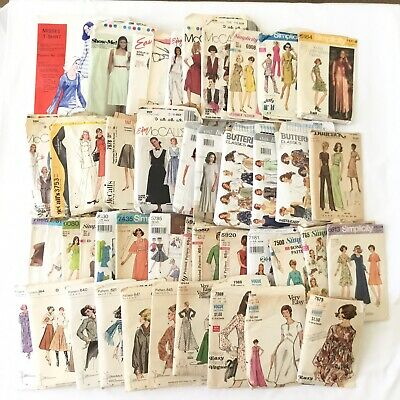 Vintage Womens Sewing Patterns Lot of 44 Vogue Butterick McCall's Simplicity Etc