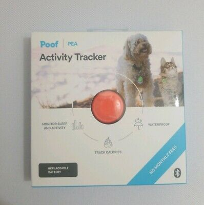 Poof Pea Pet Activity Tracker/ Coral / Great for Dogs and Cats