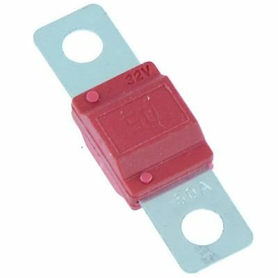 2 X 50A Rouge Midi Fusible Voiture Marine Camion
