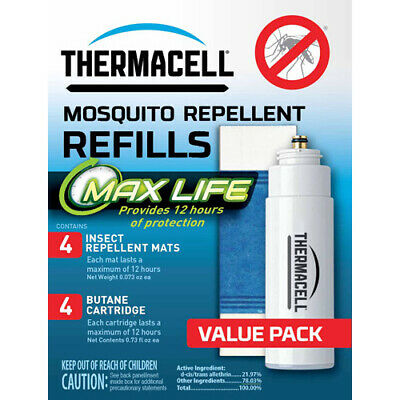 Thermacell L4  Refill Max Life 48 Hours W/Max Life Mat Oderless