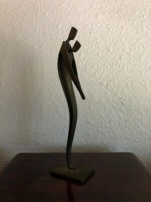 Vintage Mid Century Winckler Denmark Togetherness Metal Art Sculpture 8""