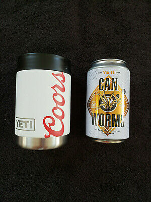New Yeti Coors Light Beer Rambler Colster 12 Oz Can O Worms