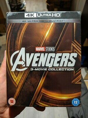 Marvel's The Avengers Trilogy 3-Movie Collection (Blu-ray + 4K UHD) BRAND NEW!!