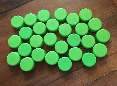 """Beverage Caps Plastic For Craft Ideas Light Green 1"""" X 1/2"""" 53 Total"""
