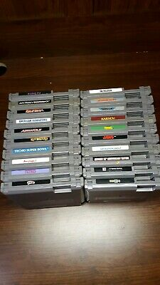 Nintendo(NES) Game Lot of 20: Tested and contacts cleaned. Tecmo Super Bowl,Jaws