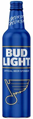 St. Louis Blues 2019 Stanley Cup Champion Bud Light Gloria Edition Bottle New