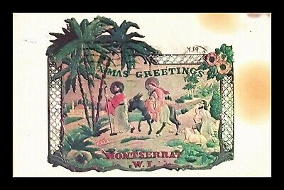 Dr Jim Stamps Christmas Greetings Nativity Montserrat Topical Postcard