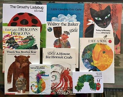 Lot of 10 ERIC CARLE books Grouchy Ladybug Walter