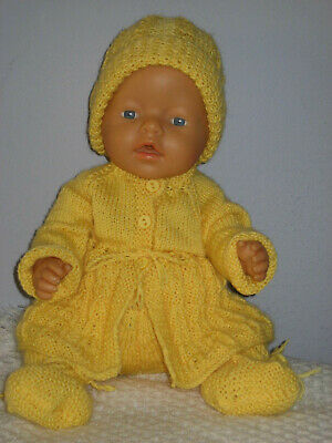 ****REBORN BABY DOLL CLOTHES SET****Yellow****