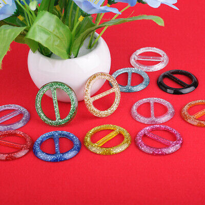 8pcs Round Buckle Ribbon DIY Buckles Clip Ring for Clothes Hats Scarf Tee Shirt