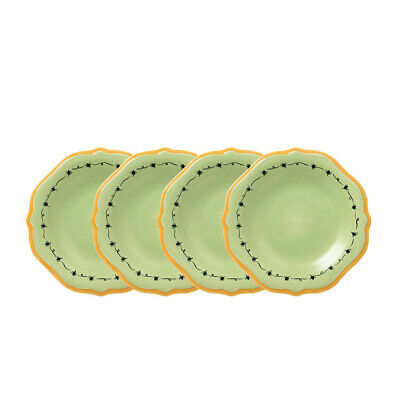 Pfaltzgraff Pistoulet Set of 4 Salad Plates with Yellow Band