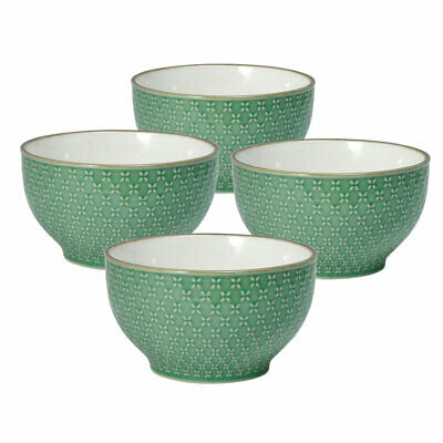 Pfaltzgraff French Lace Set of 4 Green Soup Cereal Bowls