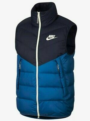Nike NSW Down Fill Bomber Jacket Blue White 928819 474 Mens Size Large $250