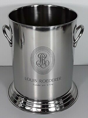 Louis Roderer Silver Plated champagne cooler engraved with logo $1 Start