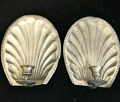A pair of Art Deco Silver Plated Candle holders and Reflectors $1 Start