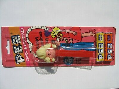 vintage Girl PEZ dispenser, with separated original Valentines Day bubble card