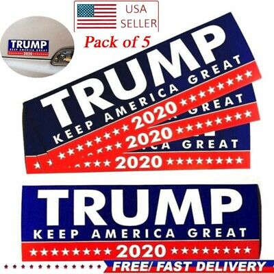 Pack of 5 Donald Trump Bumper Sticker 2020 Keep America Great US Free Shipping