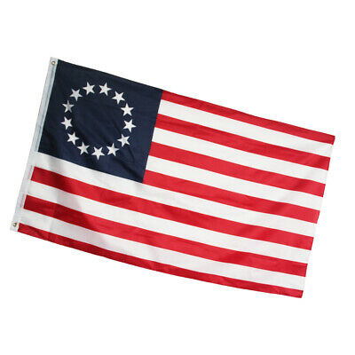 3' X 5' 3x5 Betsy Ross USA American 13 Star Flag Indoor Outdoor #OK02