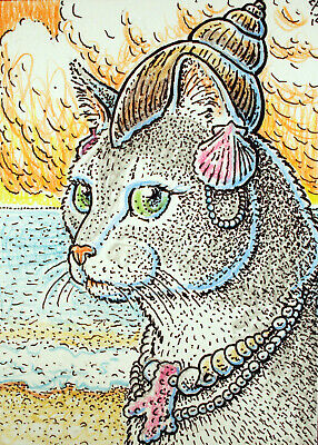 ACEO  Fantasy Original Shelly (cat)