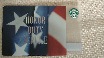 Starbucks Veteran's Day Honor Duty Service Gift Card Never used or Swiped