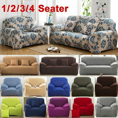 1-4 Seater Stretch Sofa Cover Couch Lounge Recliner Chair Slipcover Protector