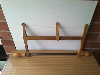 Antique Wooden Bow Saw Blade. Two Handles  Collectible