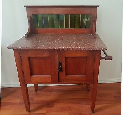 Antique QLD maple and terrazzo wash stand - just lovely