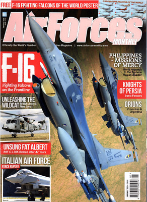 AIRFORCES MONTHLY Magazine. January 2014 - F-16,RAF C-130K,NEW LYNX HELICOPTER
