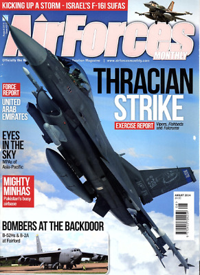 AIRFORCES MONTHLY Magazine. Aug 2014 - F-161 SUFA,VIPERS,FISHBEDS,FULCRUMS